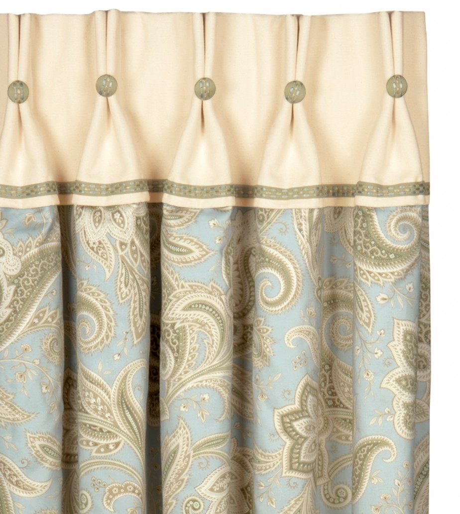 Double Swag Shower Curtain With Matching Window Curtains Valances regarding size 924 X 1033