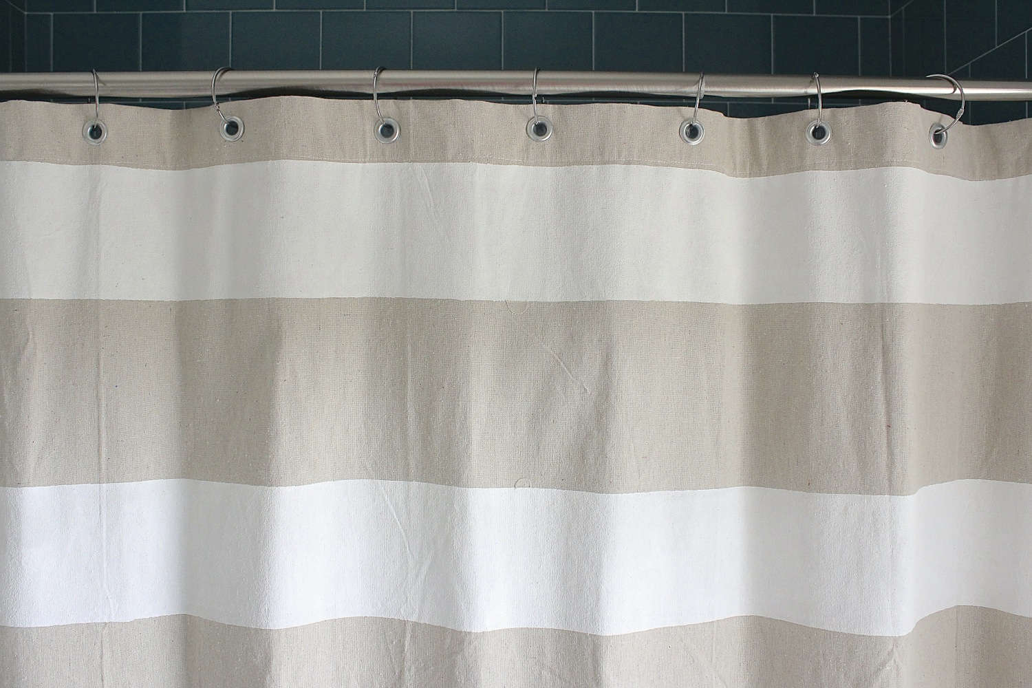 Grey White Striped Shower Curtain. Dropcloth Shower Curtain Made Everyday regarding size 1500 X 1000 Pink And White Striped  Curtains Ideas