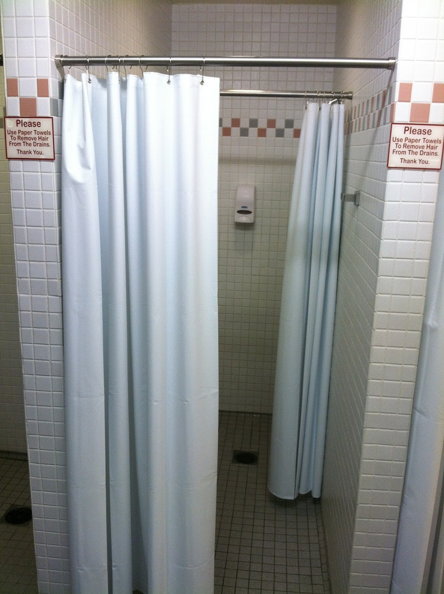 Easy Diy Shower Stall Curtain Rod Installations The Decoras within sizing 900 X 1205