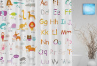 Educational Alphabet Letters Kids Shower Cutains Cute Animals inside sizing 1000 X 1000