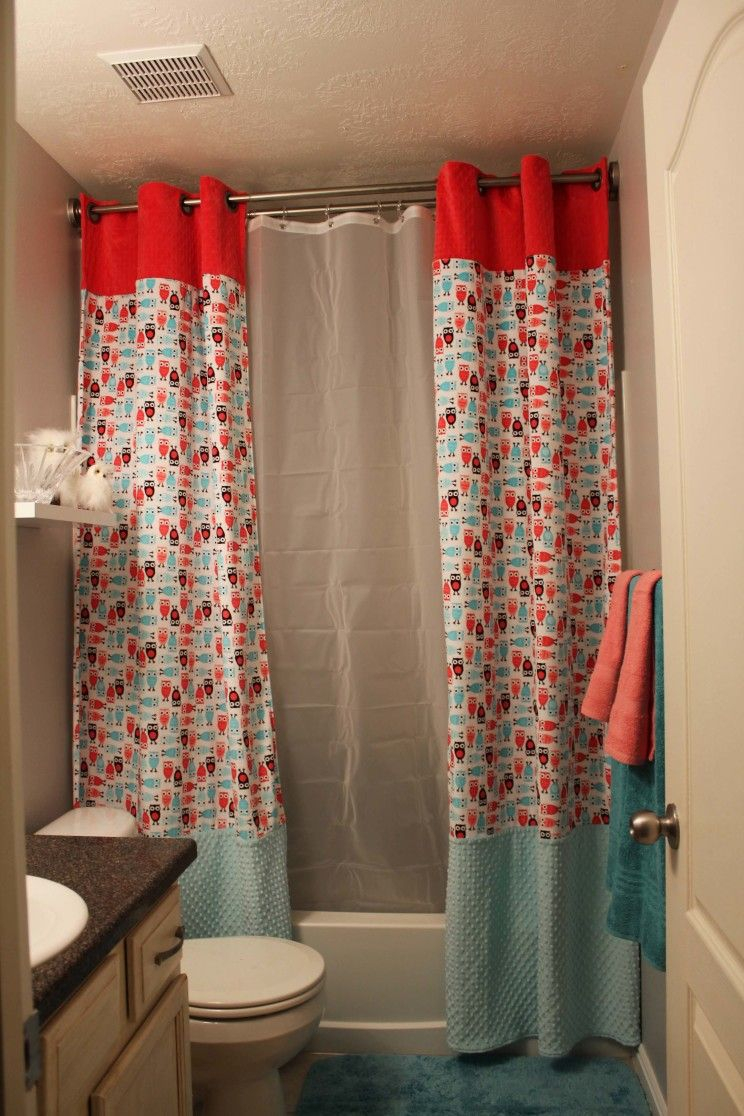 Double Swag Shower Curtain With Valance • Shower Curtains Ideas