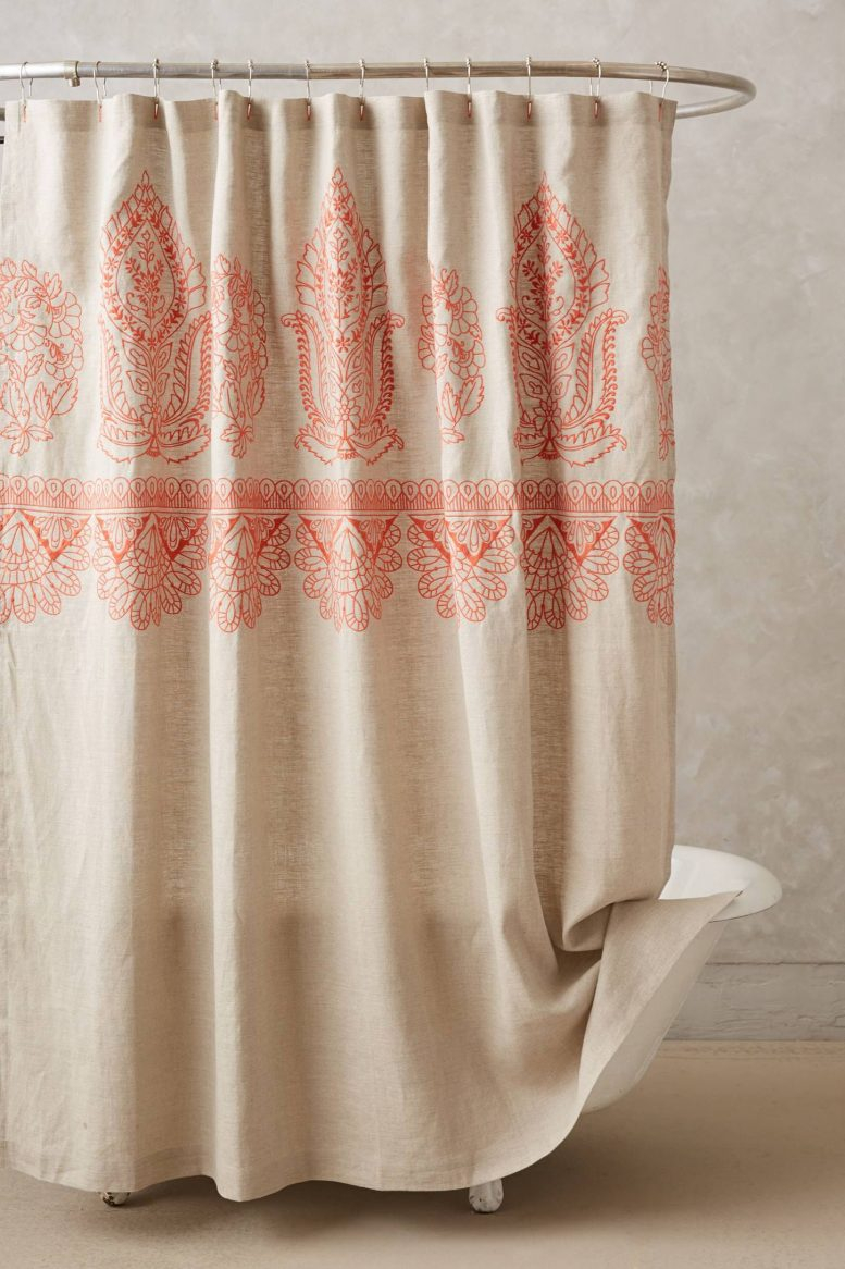 Elegant Fabric Shower Curtains With Valance Pale White Curtain In Size 777 X 1166