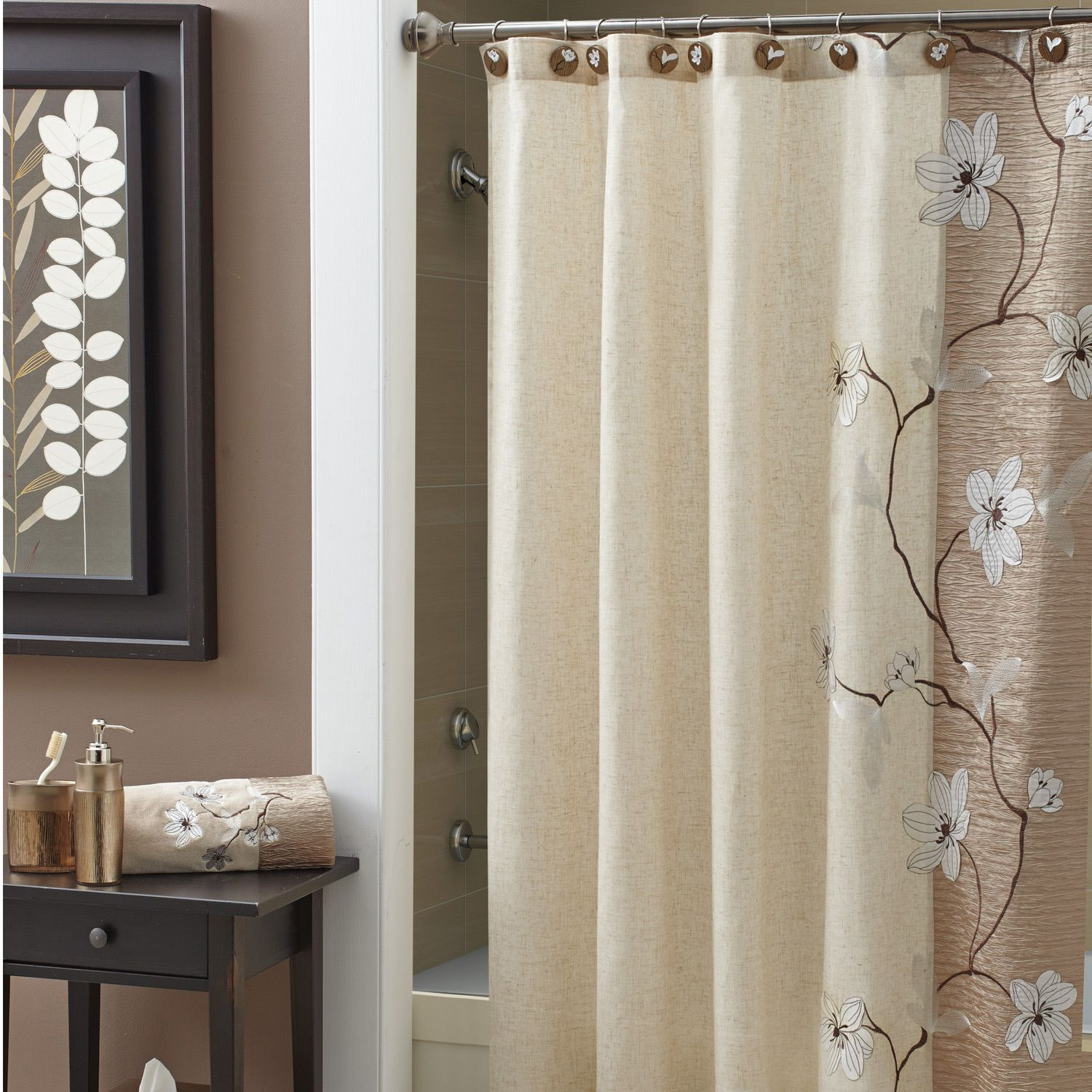 Enchanting Bathroom Shower Curtain Ideas Photo 3 Design Your Home Pertaining To Size 1500 X