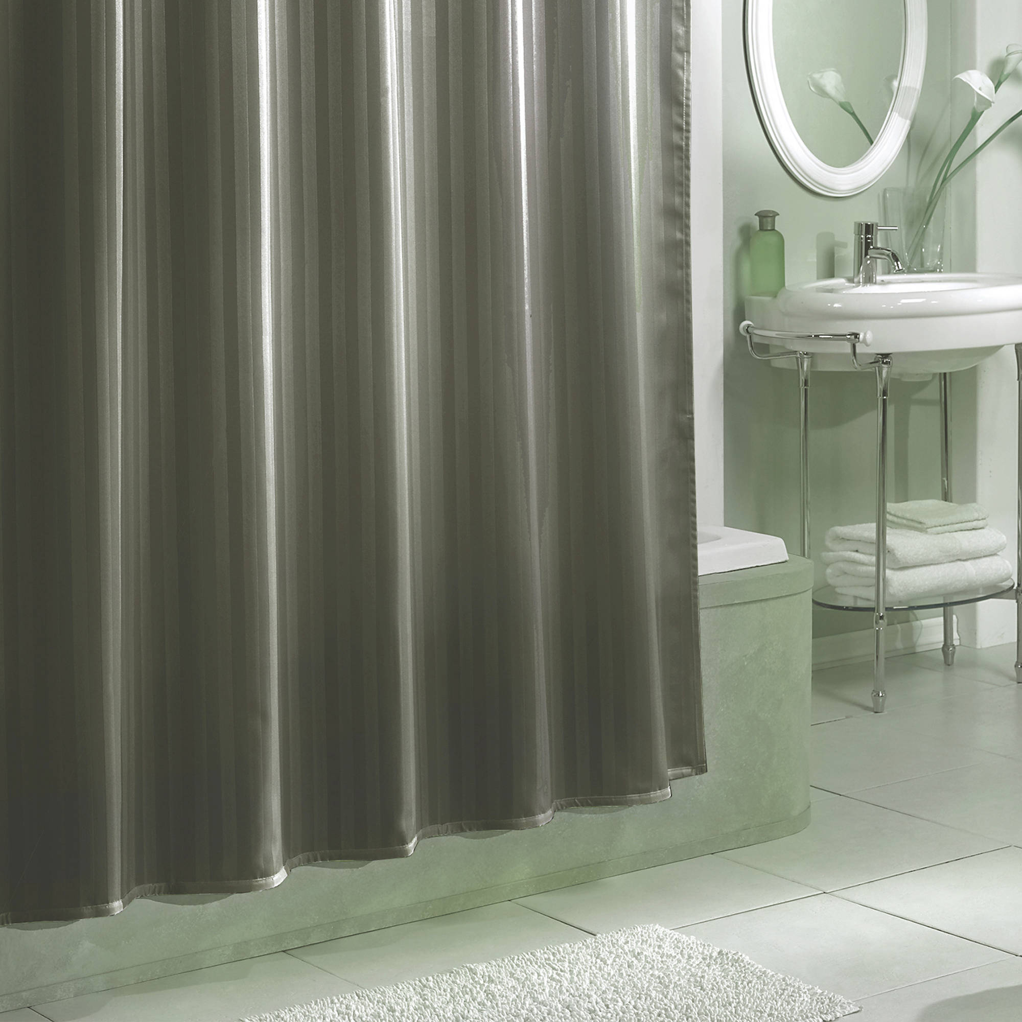 Excell Damask Stripe Fabric Shower Curtain Liner Walmart for sizing 2000 X 2000