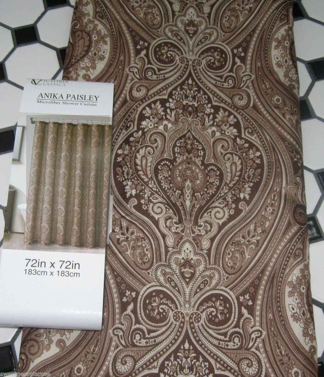 Excellent Brown Paisley Shower Curtain Pictures Inspiration in dimensions 1031 X 1200