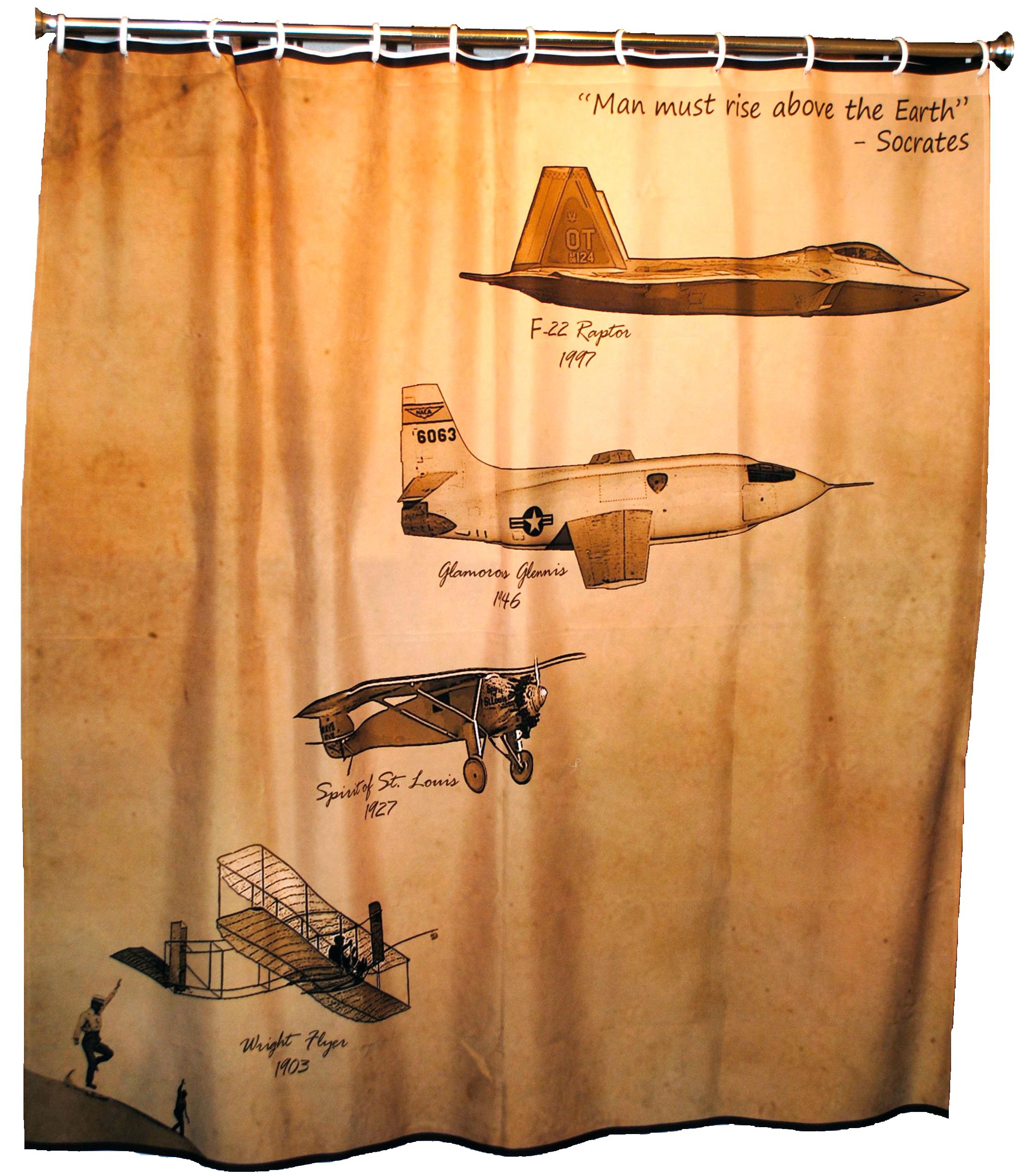 Excellent Ideas Airplane Shower Curtain Plush Aircraft Curtains Within  Proportions 2245 X 2553