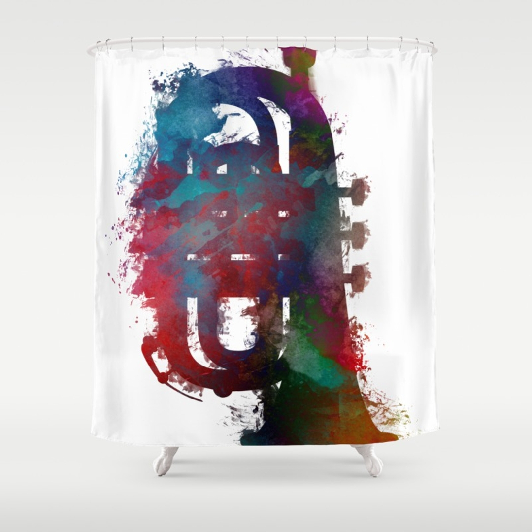 Excellent Jazz Shower Curtain Images Bathtub For Bathroom Ideas inside sizing 1080 X 1080