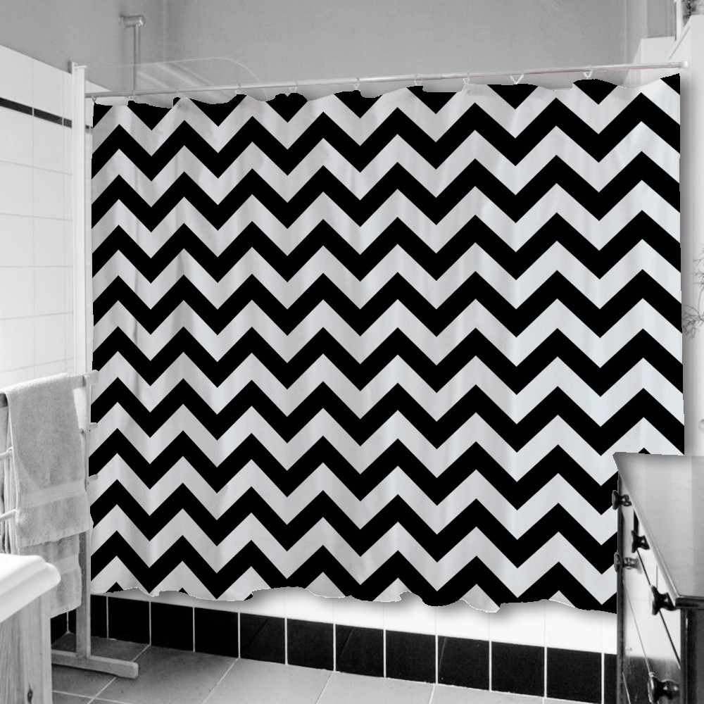 Grey And White Chevron Shower Curtain. Exciting Black White Chevron Shower Curtain Ideas Best pertaining to  measurements 1000 X And Grey Curtains