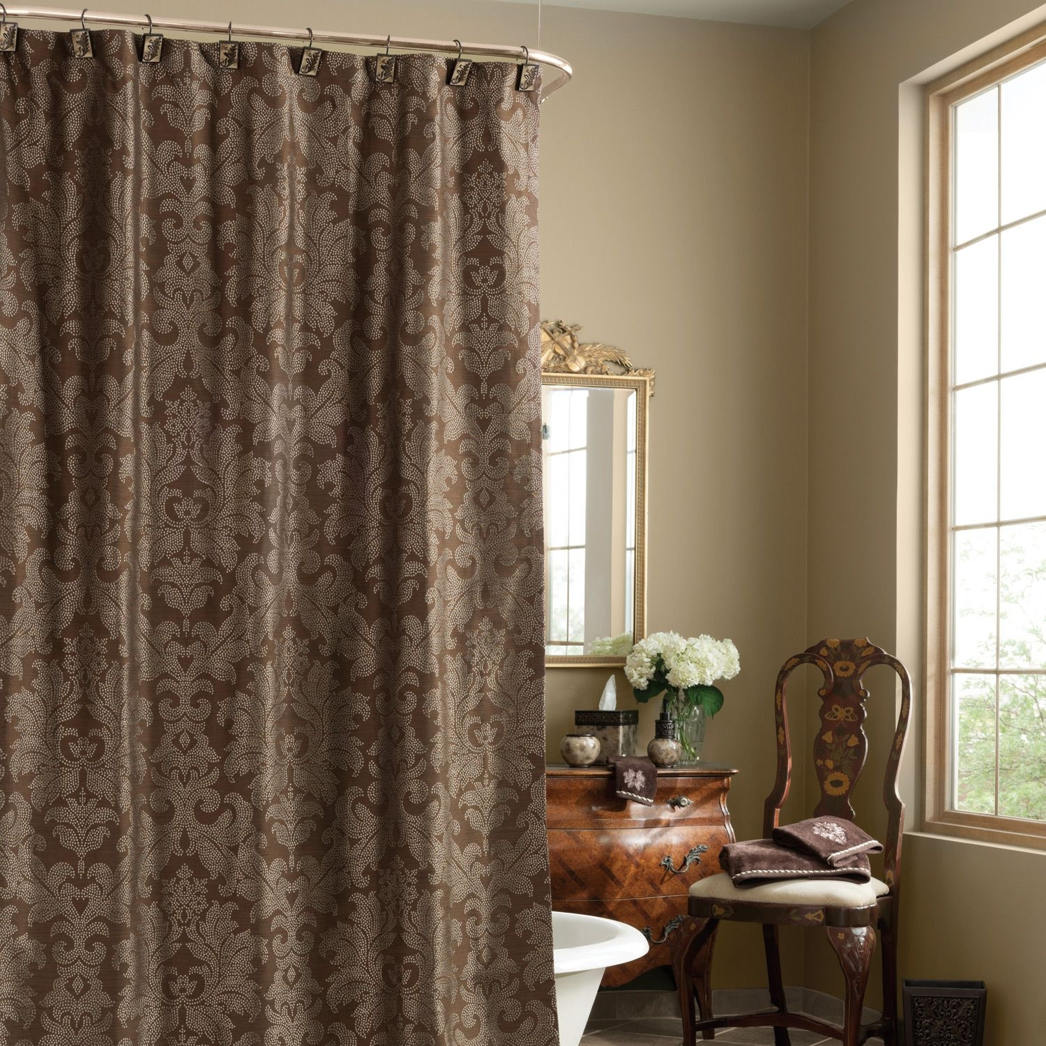 Long Brown Shower Curtain Liner • Shower Curtains Ideas