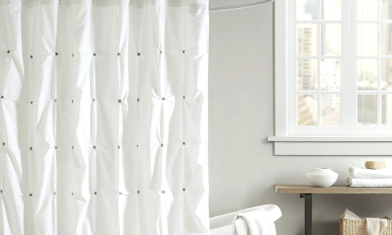 Extra Long White Terry Cloth Shower Curtain Curtains Design Intended For Size 1250 X 750