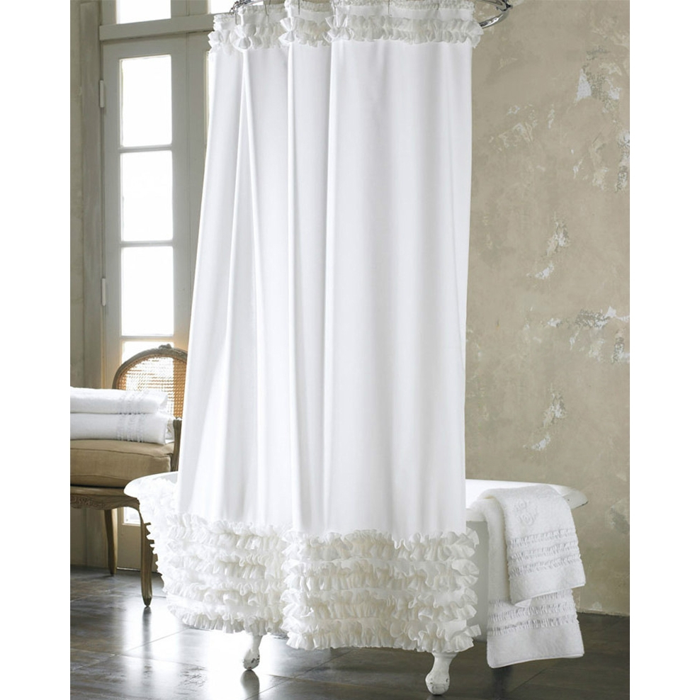 Eyelet Shower Curtains White Shower Curtain Ideas throughout dimensions 988 X 988