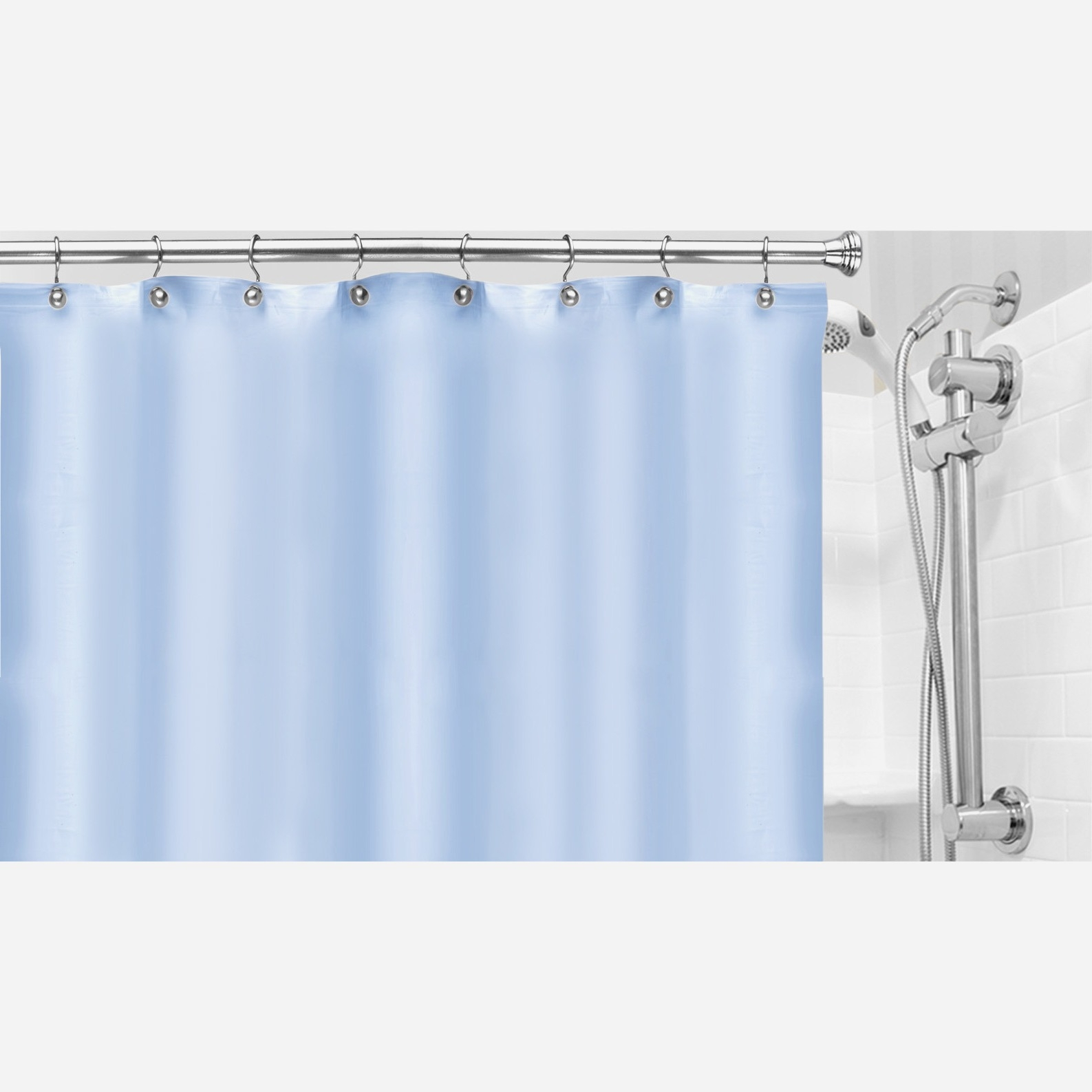 Fabric Shower Curtain Liner With Suction Cups On Sides Pertaining To Sizing 1587 X