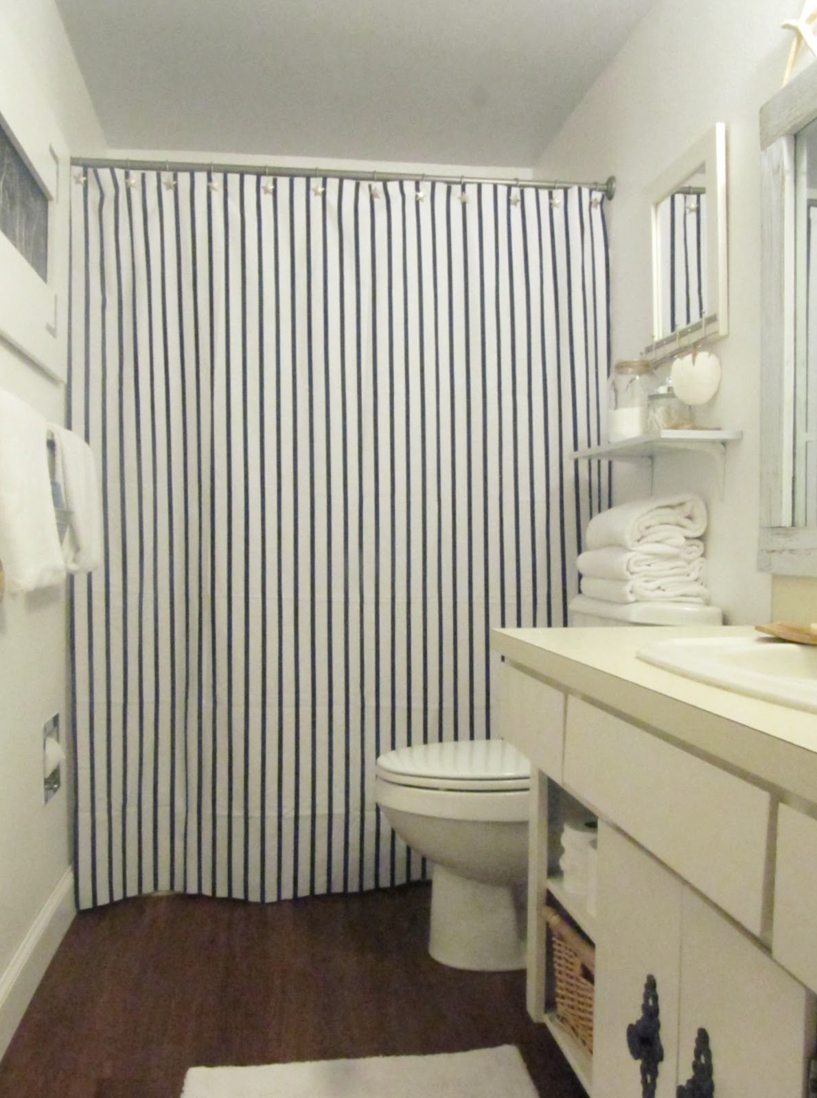 Fashionable Striped Shower Curtain The Homy Design within dimensions 1190 X 1600