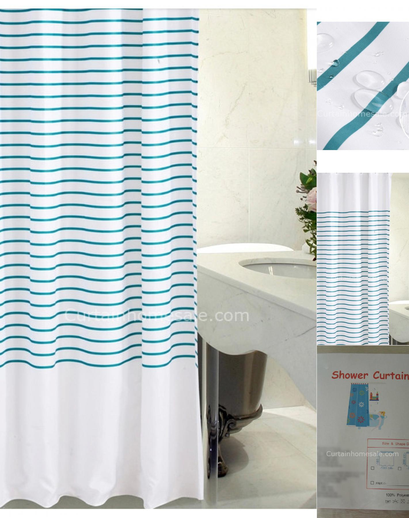 Bright Colored Striped Shower Curtain • Shower Curtains Ideas