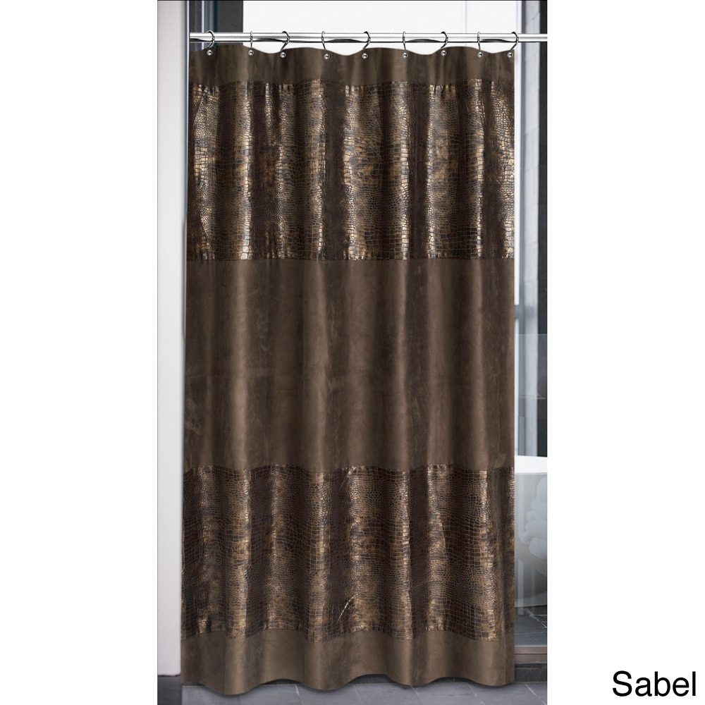 Faux Suede Cobra Design Shower Curtain Free Shipping On Orders with regard to measurements 1000 X 1000