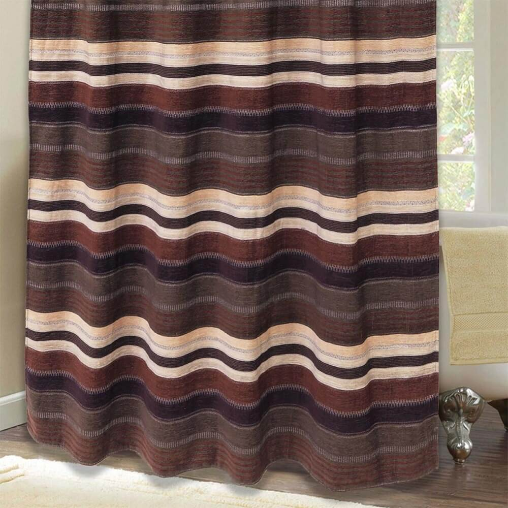 Faux Tooled Leather Shower Curtain Cabin Place with size 1000 X 1000