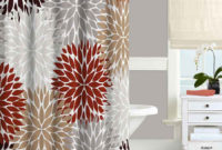 Fresh Decoration Red And Brown Shower Curtain Vibrant Design inside sizing 900 X 900