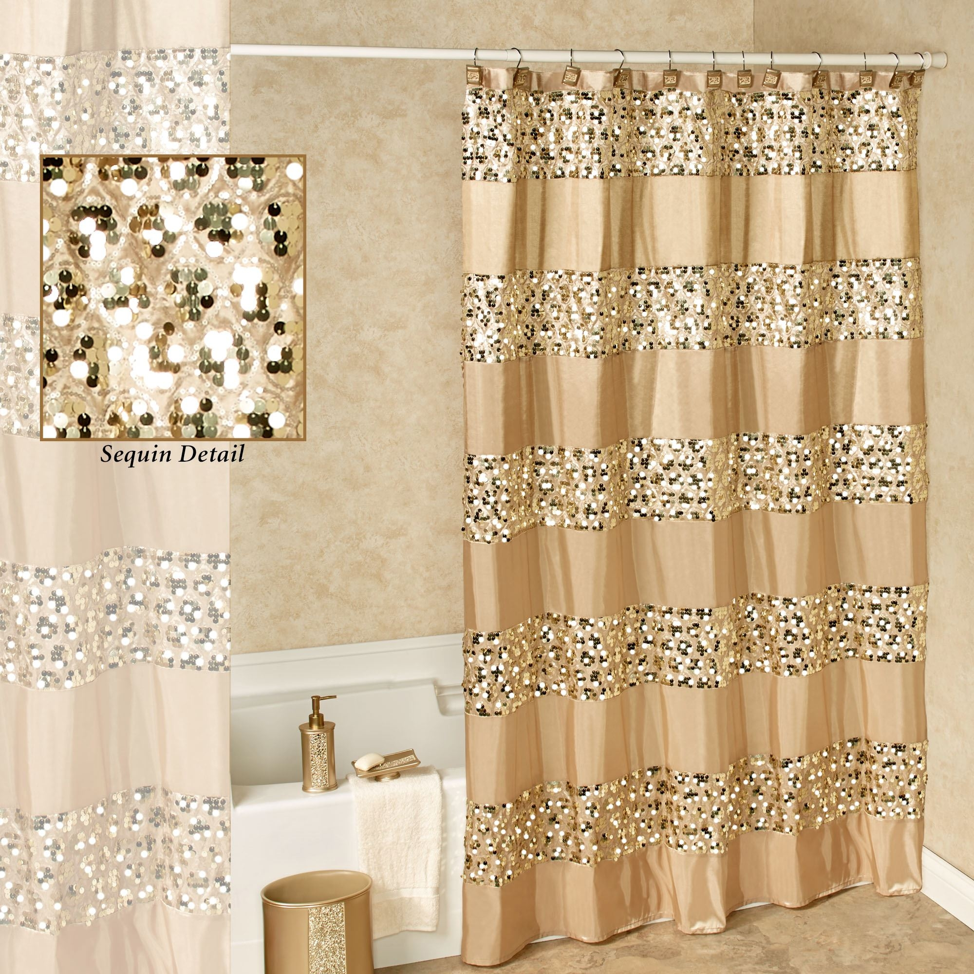 Fruitesborras 100 Black And Gold Shower Curtain Set Images Pertaining To Proportions 2000 X