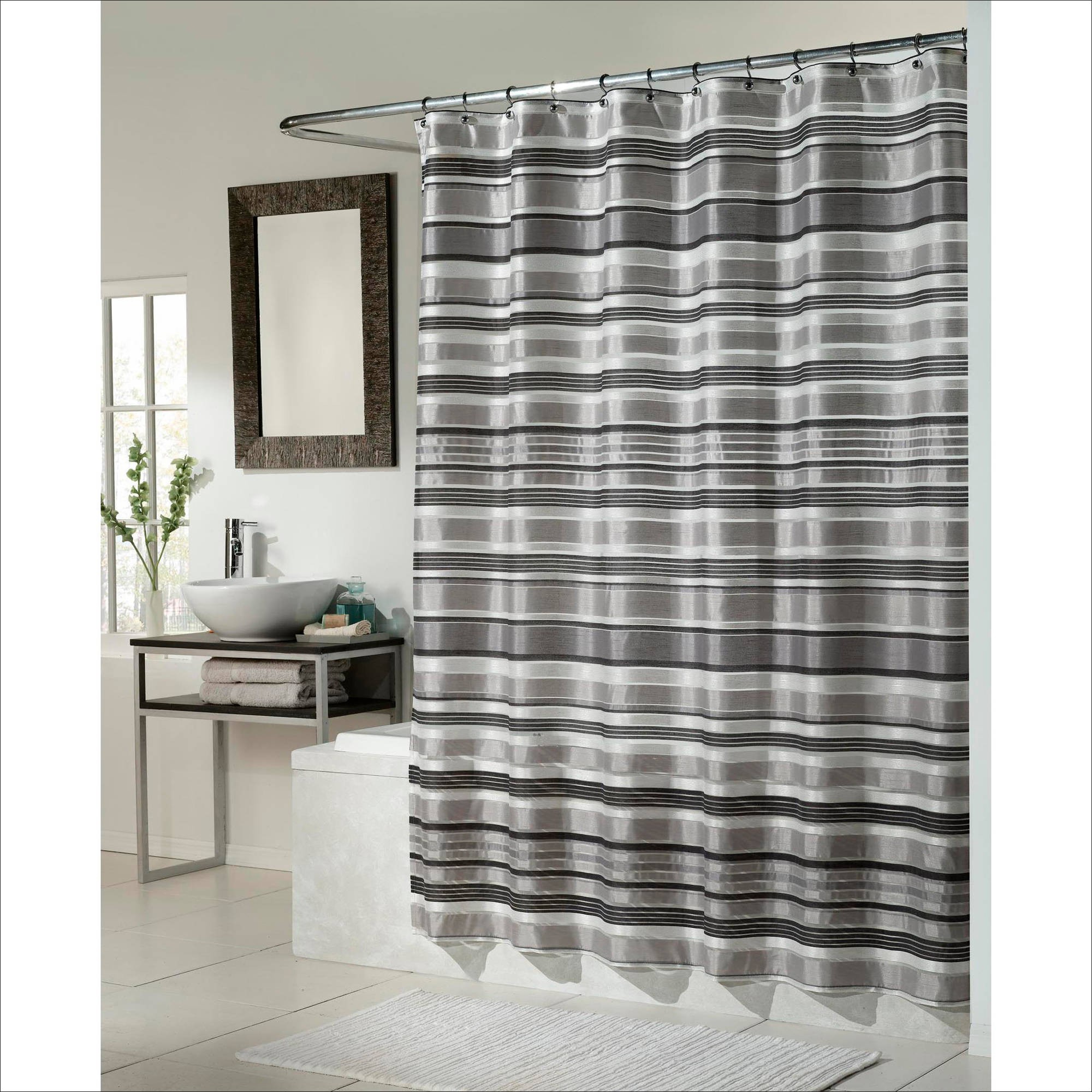 Furniture Awesome Gray And White Striped Curtains Luxury Intended For Dimensions 2000 X
