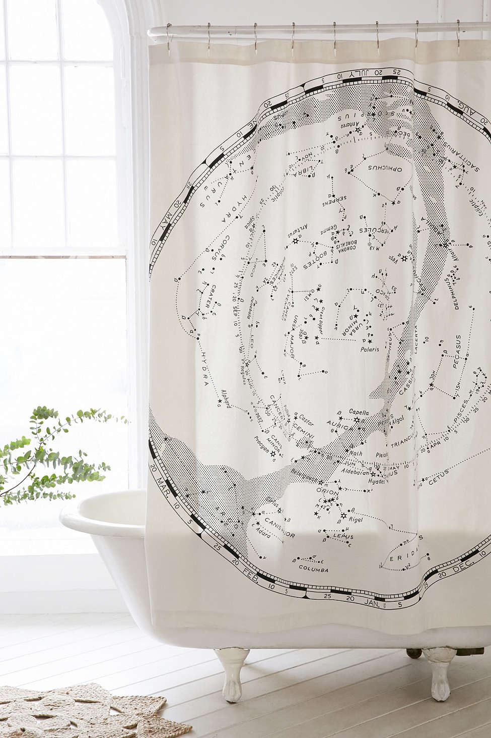 Furniture Finds Magical Thinking Constellation Map Shower Curtain regarding dimensions 975 X 1463