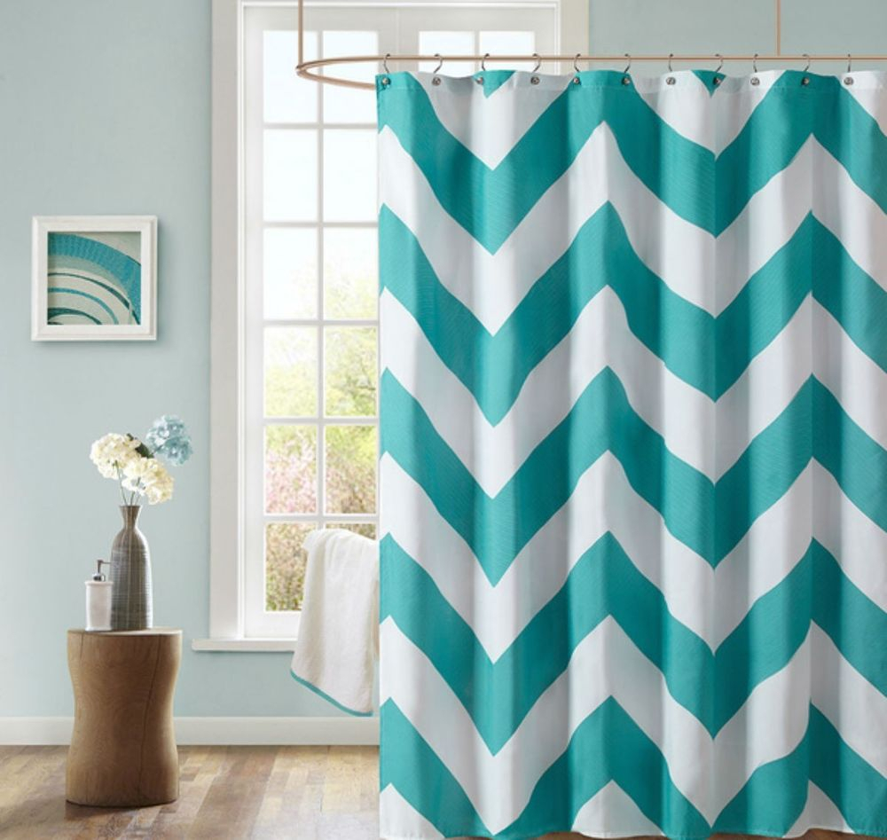 Glamorous Aqua Chevron Shower Curtain Images Best Image Engine inside dimensions 1000 X 947