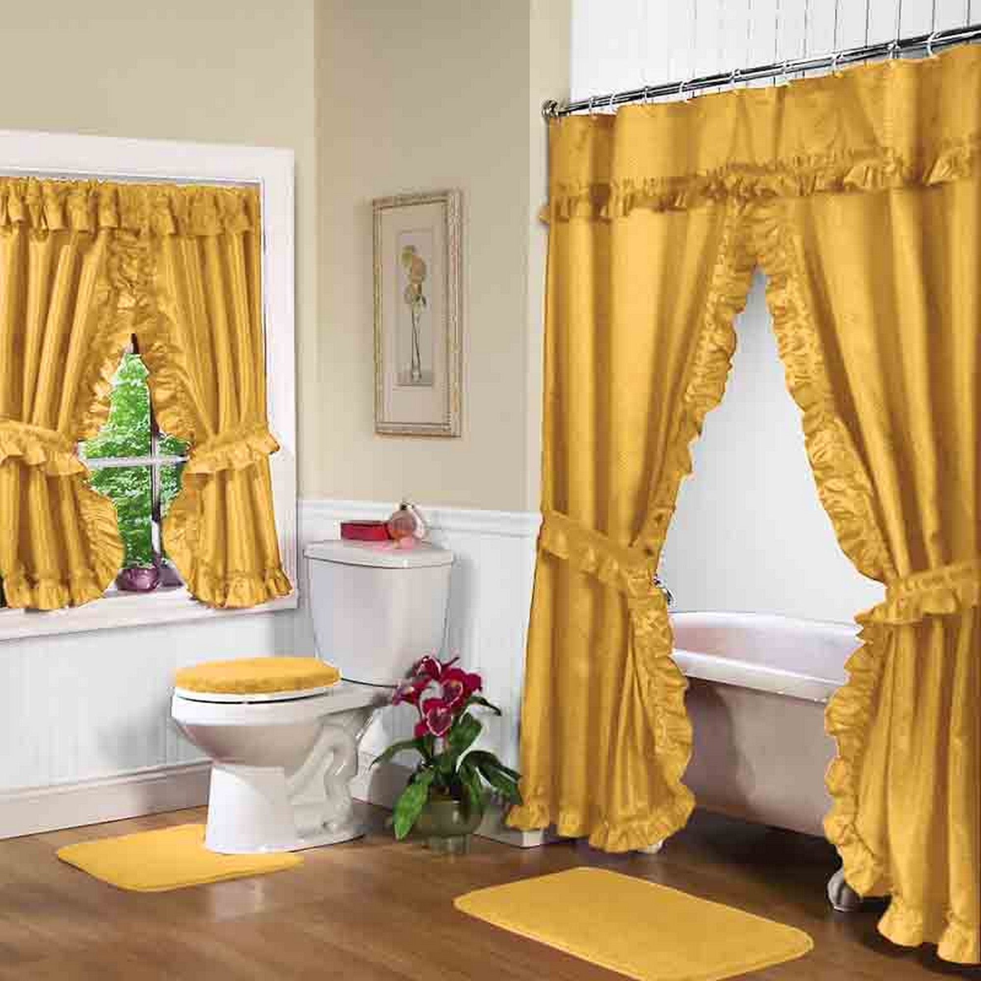Gold Shower Curtain With Valance For Luxury Bathroom Decor With intended for dimensions 2000 X 2000