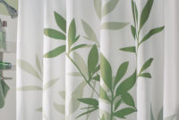 Gorgeous Green Leafs Pattern Extra Long Shower Curtain With Chrome intended for size 1500 X 1500