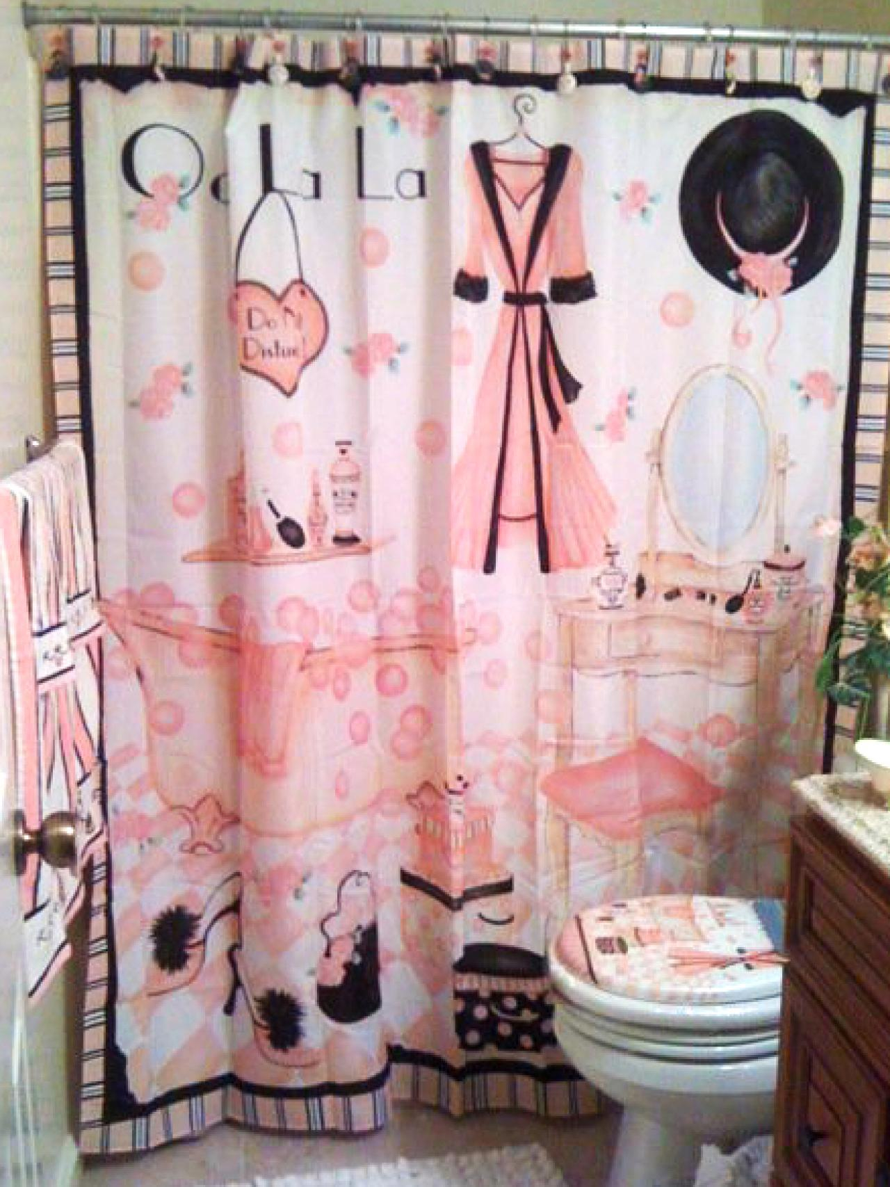 retro pin motif dots image aesthetic nostalgic polka grunge backdrop set curtain bathroom spots shower