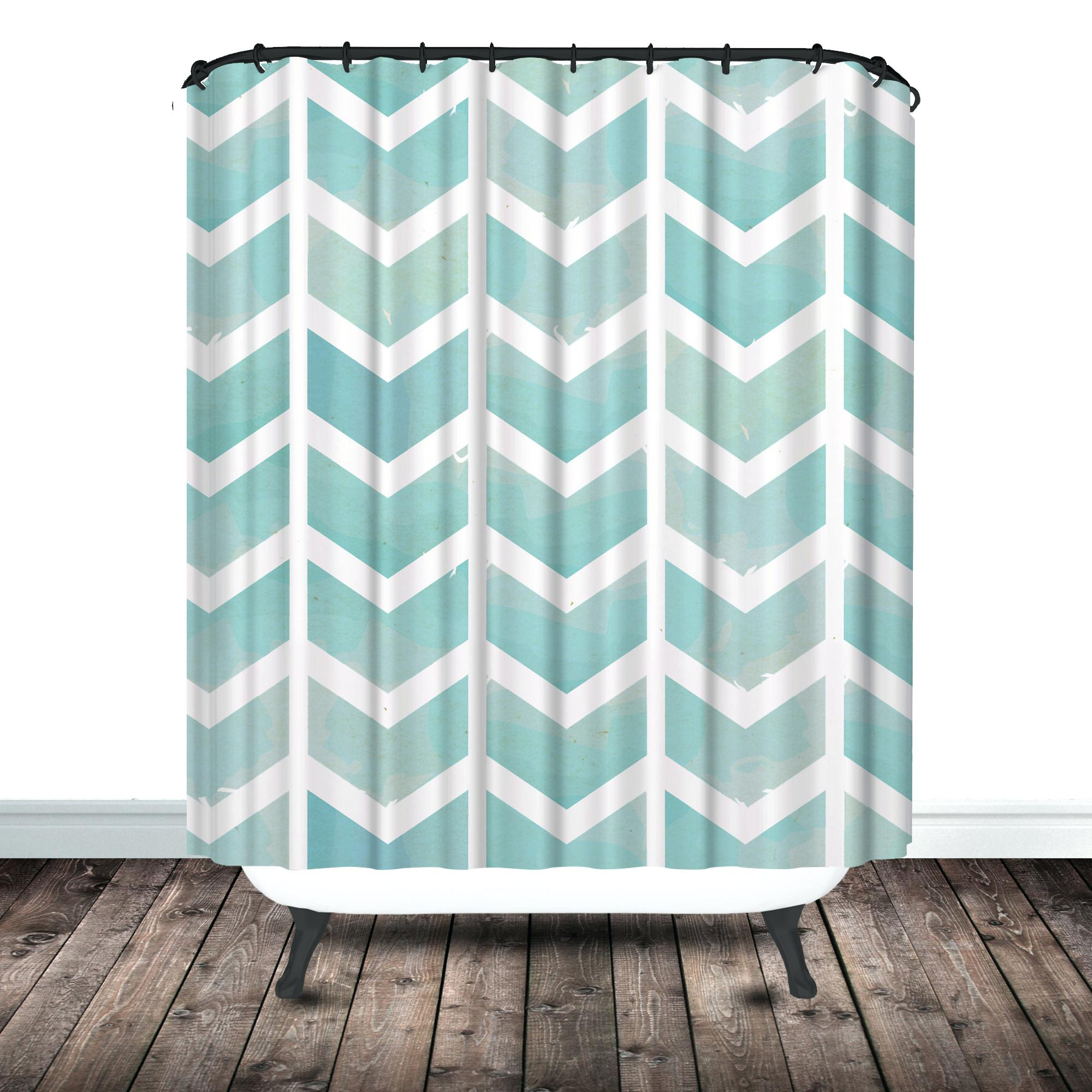 Gray And Teal Chevron Shower Curtain Shower Curtains Design with regard to dimensions 2000 X 2000