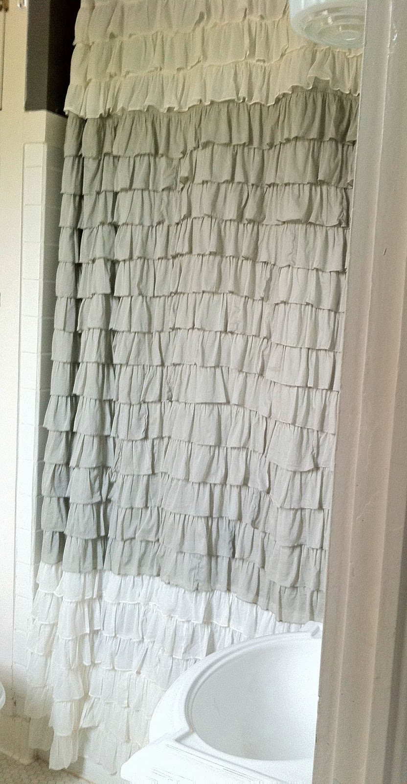 Gray Ombre Ruffle Shower Curtain • Shower Curtains Ideas