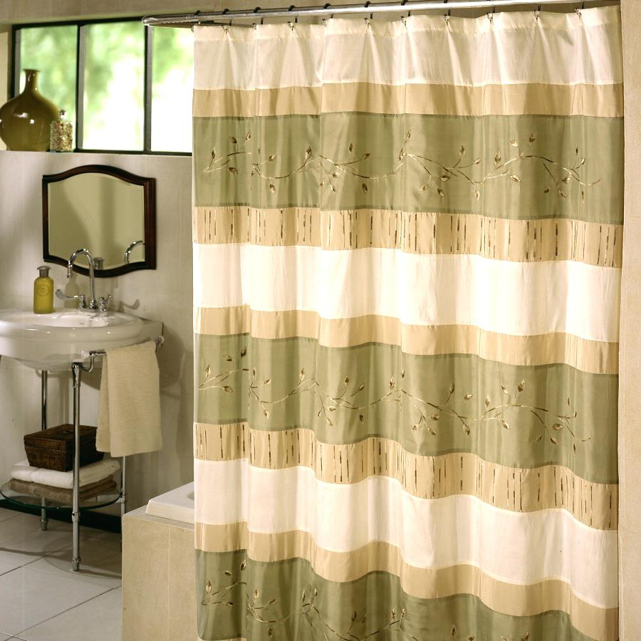 Green And Yellow Striped Shower Curtain Shower Curtains Design Inside  Measurements 900 X 900