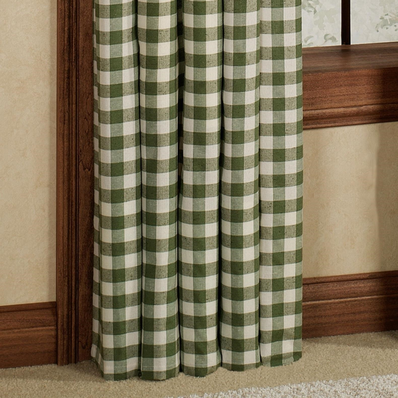 Green Plaid Country Shower Curtain Shower Curtain Within Size 1580 X 1580