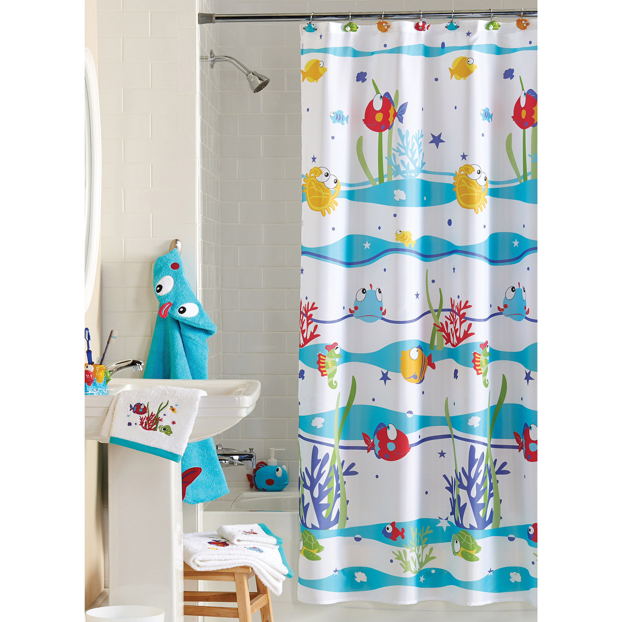 Hasbro My Little Pony Shower Curtain Hooks Walmart Intended For Proportions 2000 X