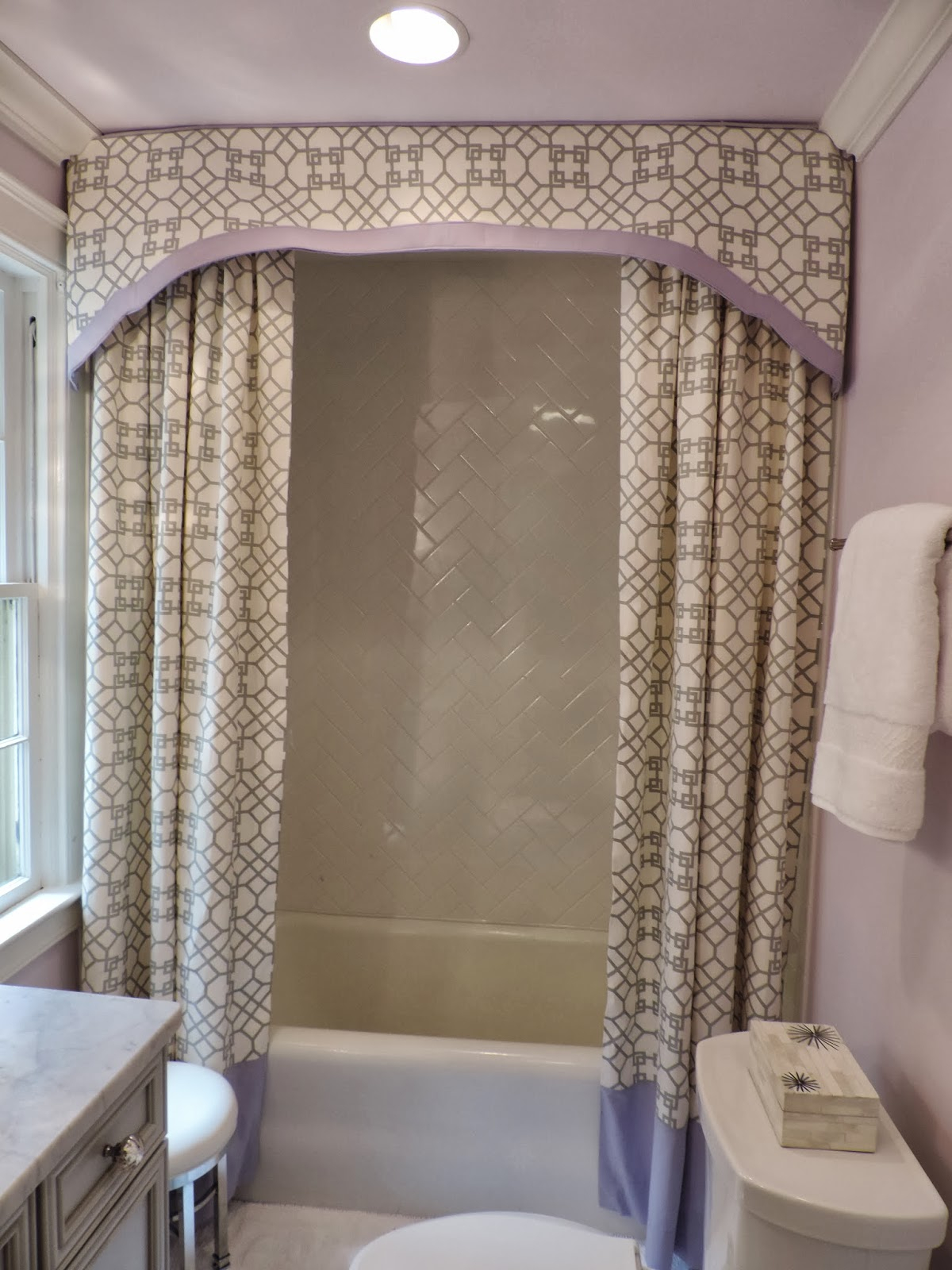 Drapery Pattern Testimonials Double Swag Fabric Shower Curtain Attached Valance Viny Amazing