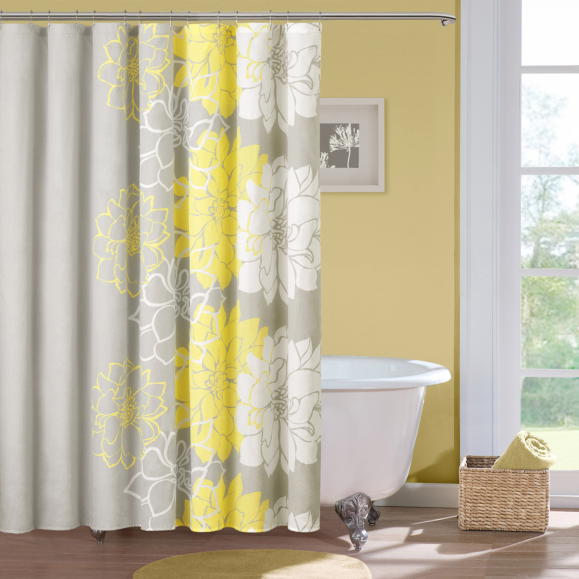 Home Essence Jane Cotton Shower Curtain Walmart for dimensions 2000 X 2000