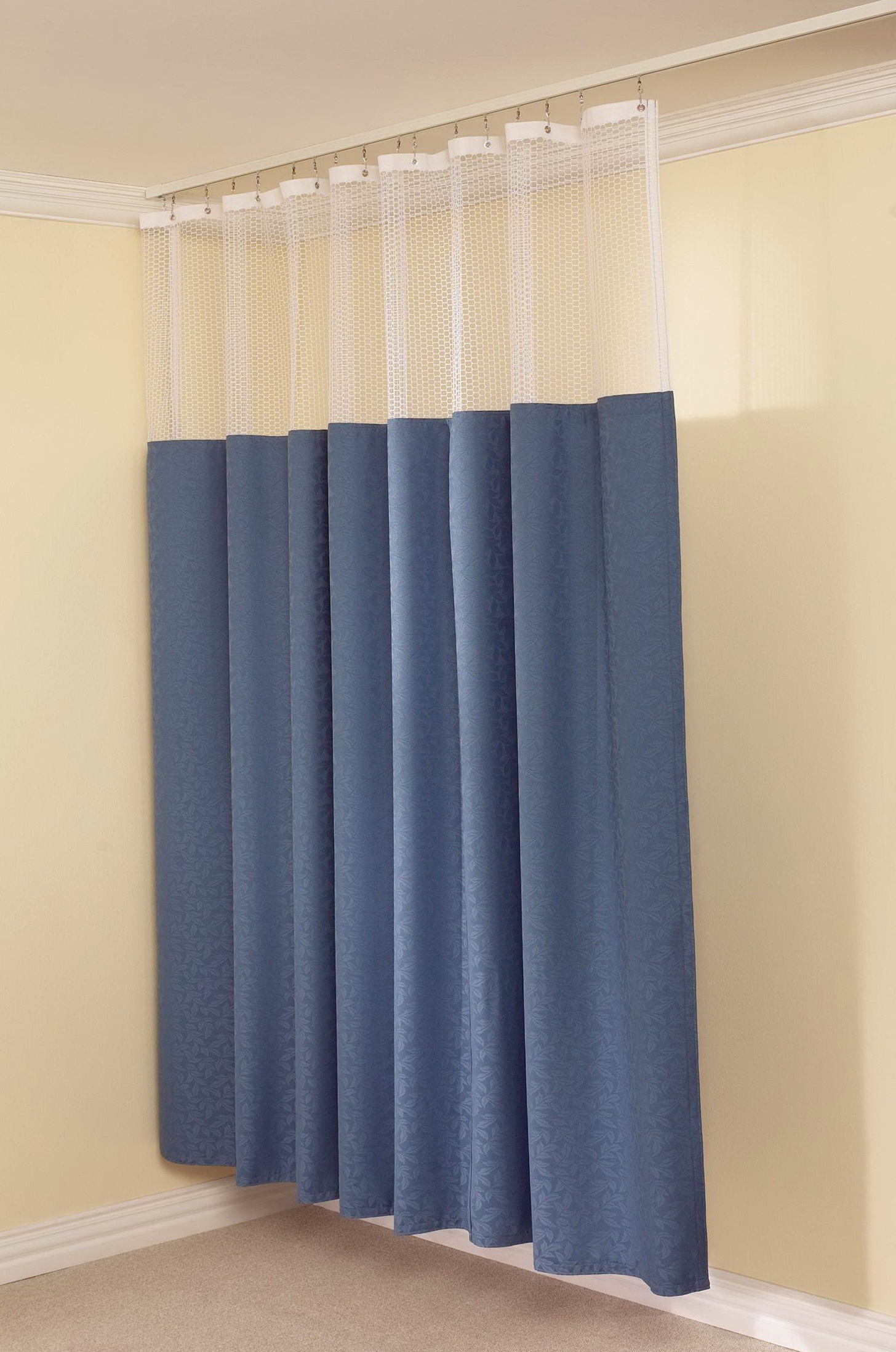 Superieur Hospital Shower Curtains Track Shower Curtain Regarding Sizing 1456 X 2197