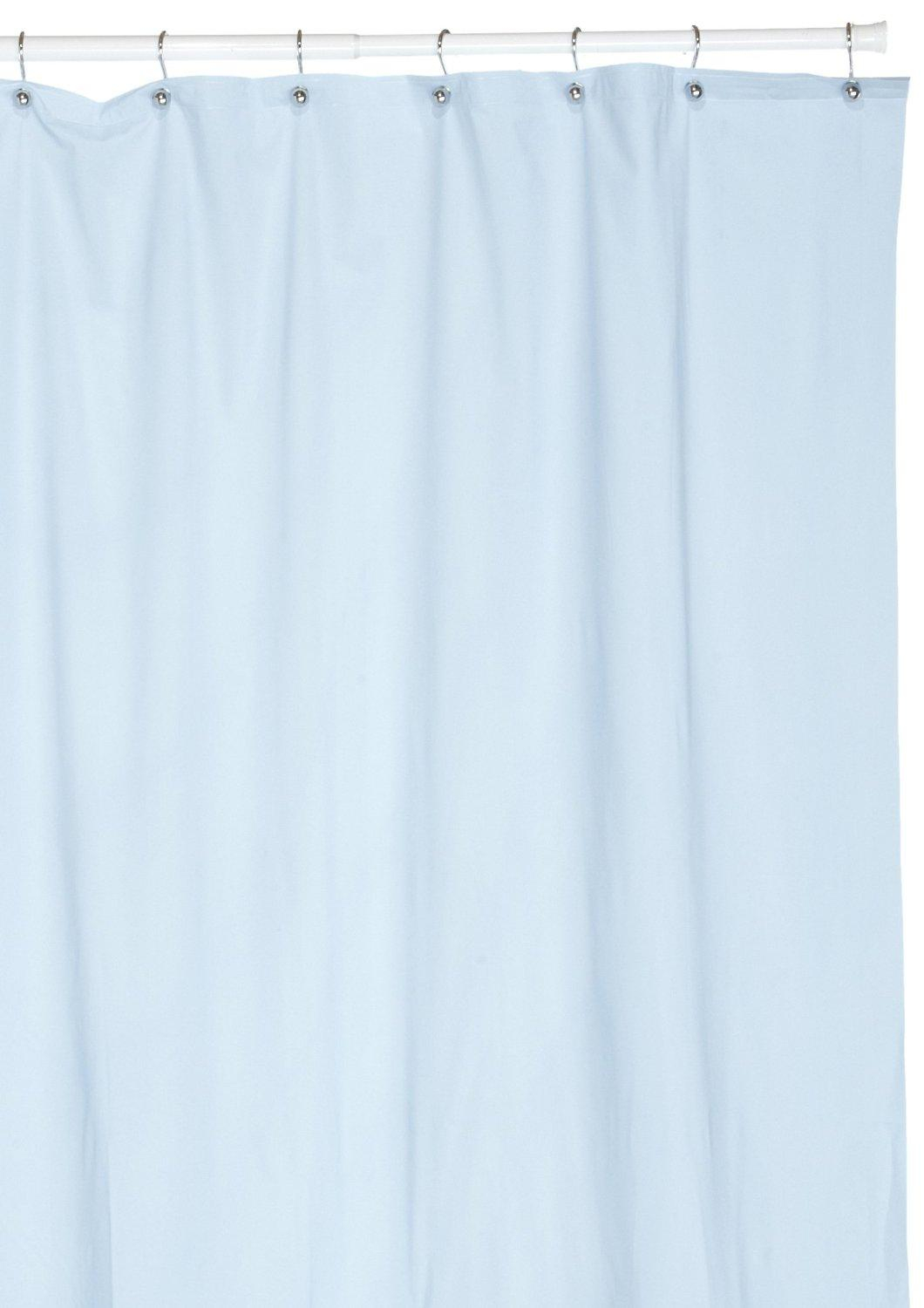 Hotel Quality 8 Gauge Vinyl Shower Curtain Liner Light Blue regarding measurements 1060 X 1500