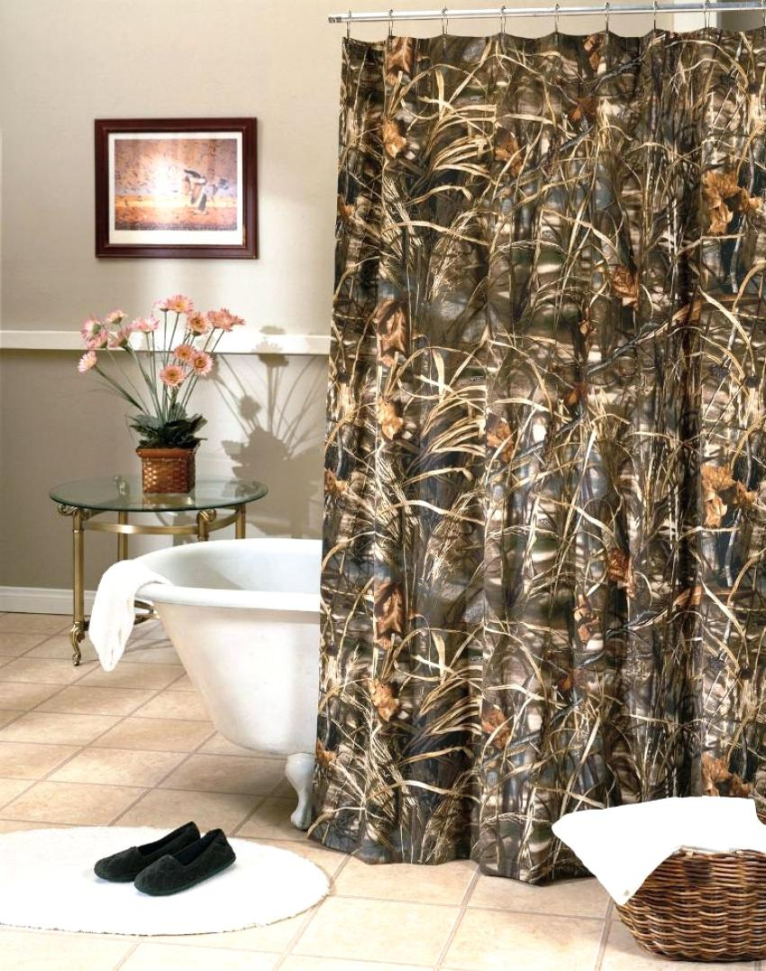Hunting Shower Curtain Neoteric Design Inspiration Realtree Max 4 regarding sizing 850 X 1077