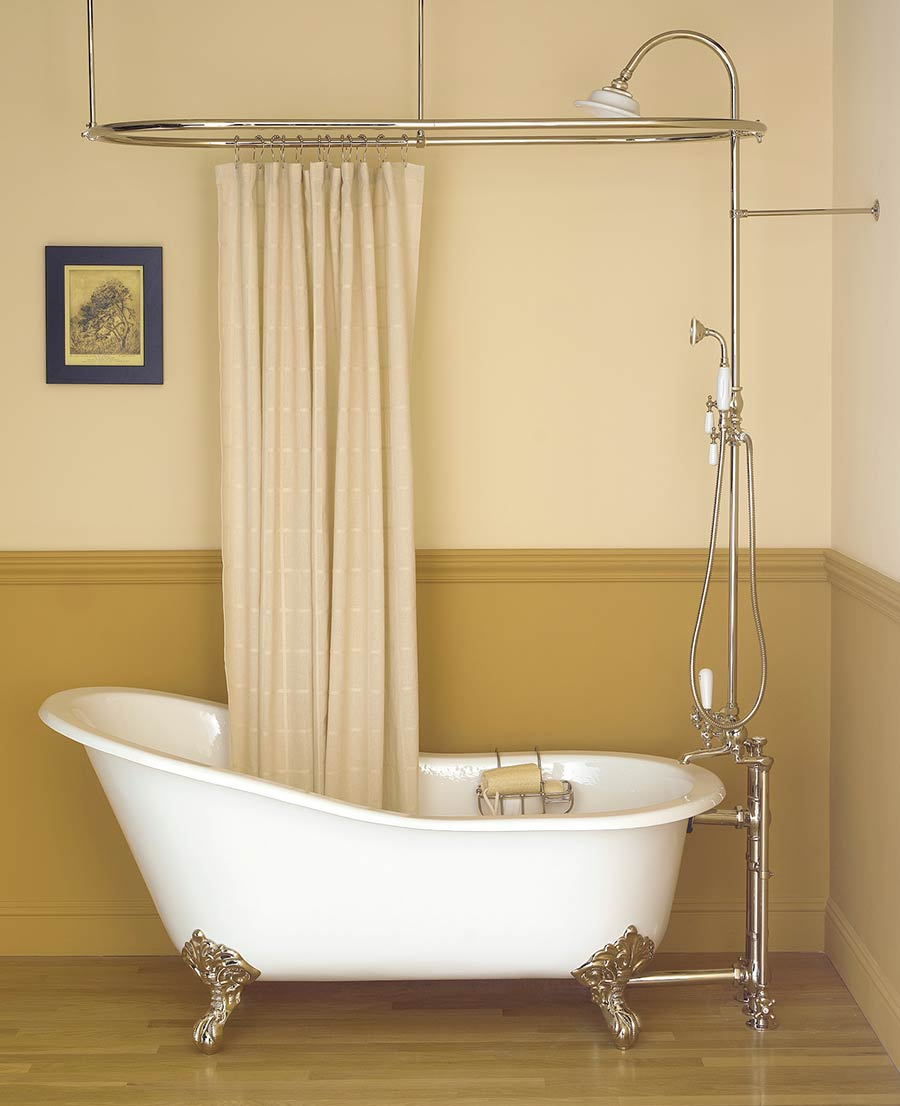 Imposing Design Clawfoot Tub Shower Curtain Rod Extremely Creative inside size 900 X 1106