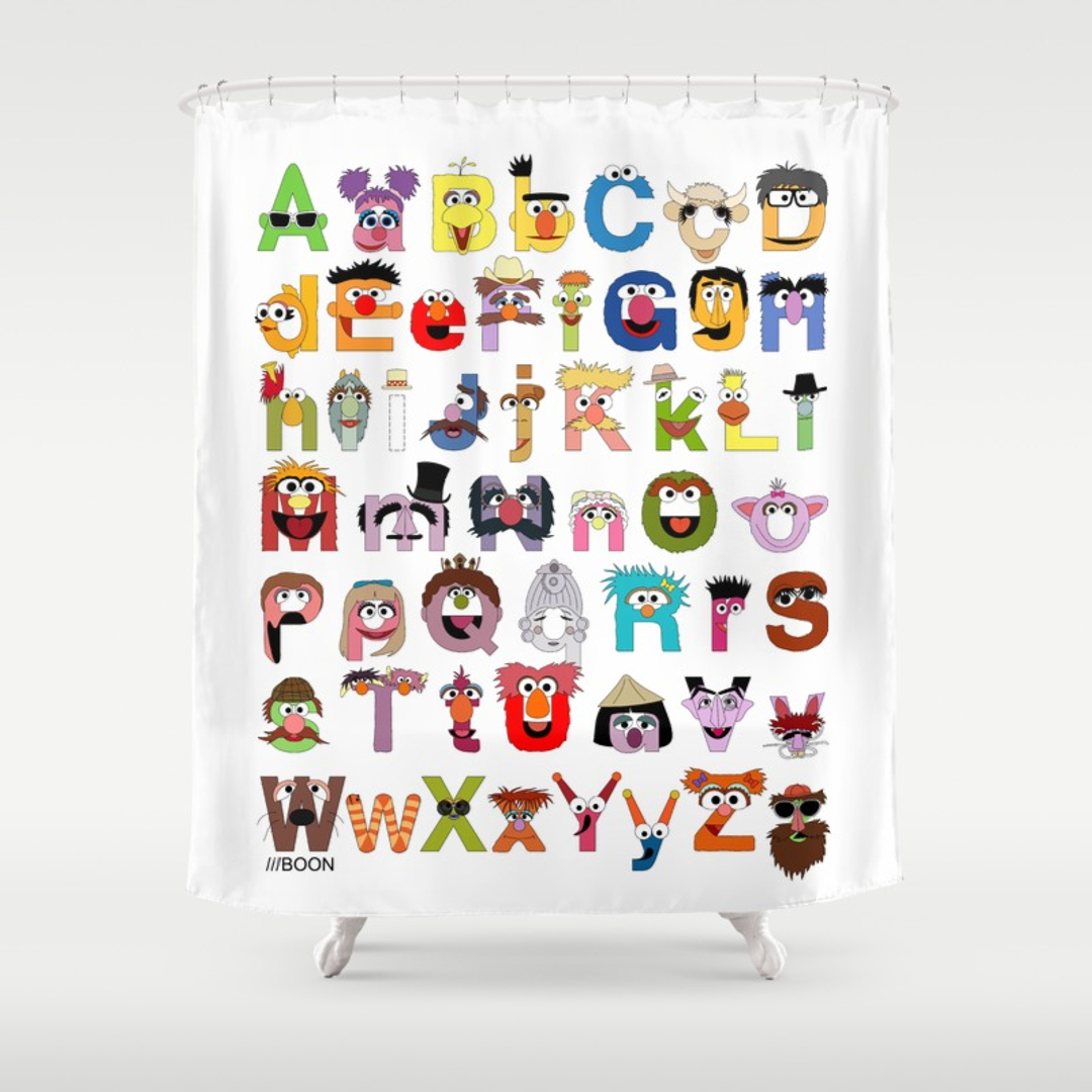 Innovative Ideas Sesame Street Shower Curtain Fantastic Curtains in dimensions 1080 X 1080
