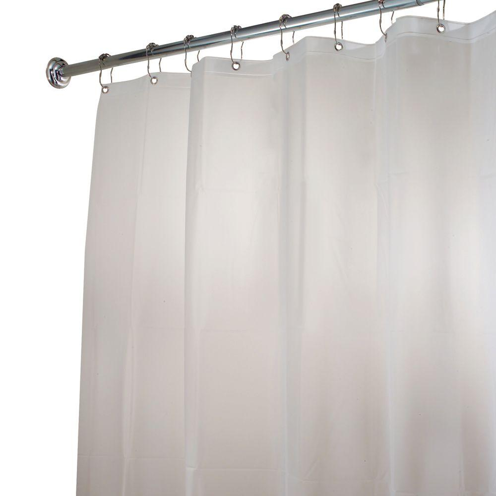 Interdesign Eva Extra Long Shower Curtain Liner In Clear Frost with regard to proportions 1000 X 1000