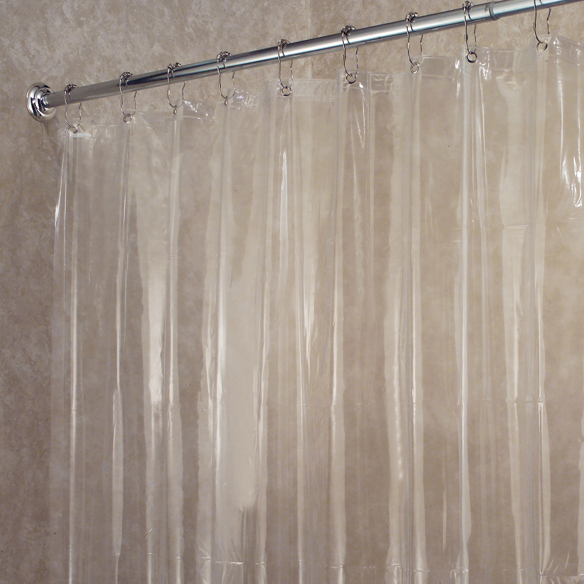 Extra Large Clear Eva Vinyl Shower Curtain Liner • Shower Curtains ...