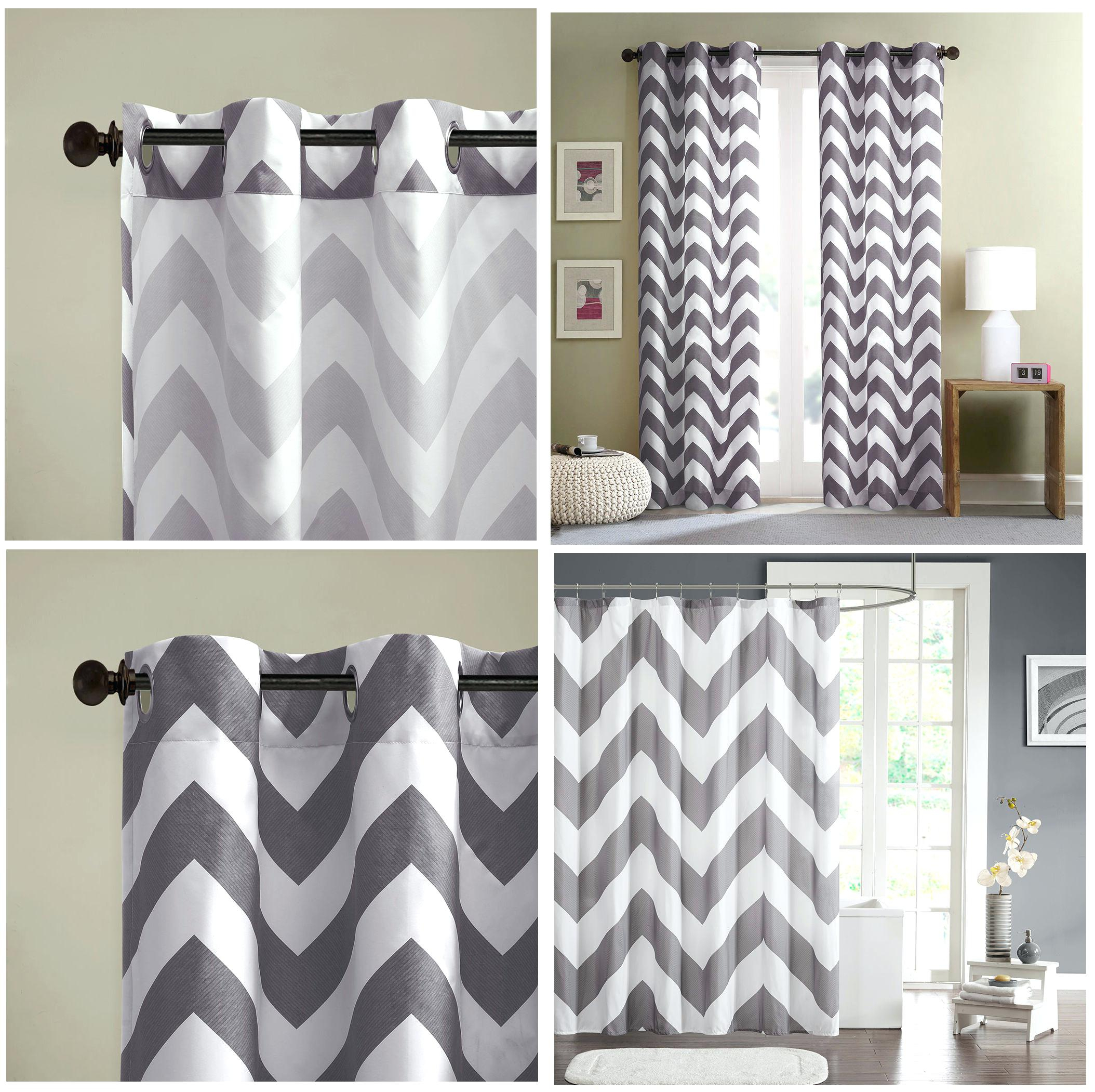 Interesting Grey And White Chevron Shower Curtain Photos Best with proportions 2108 X 2101
