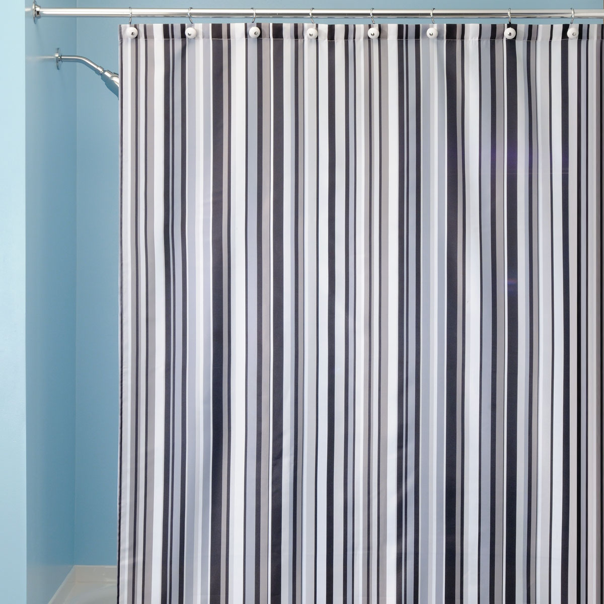 Red And Navy Striped Shower Curtain • Shower Curtains Ideas