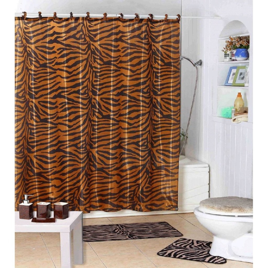 Interior Decorating Home Shower Curtain Zebra Rings throughout measurements 1024 X 1024