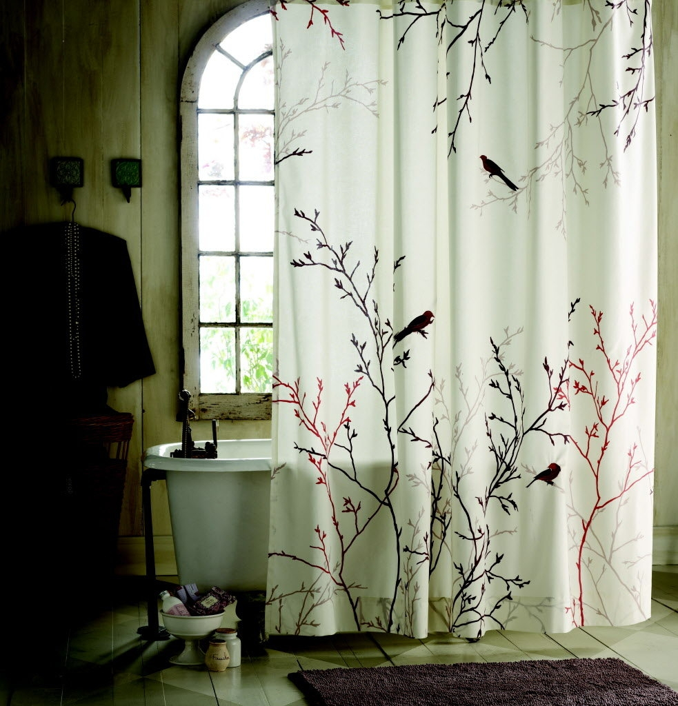 Japanese Style Shower Curtains Curtain Ideas Within Sizing 983 X 1024