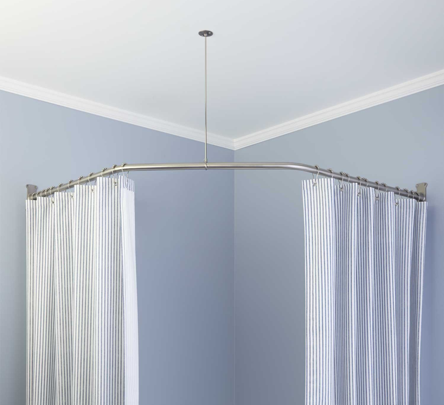 Stainless Steel L Shaped Shower Curtain Rod • Shower Curtains Ideas