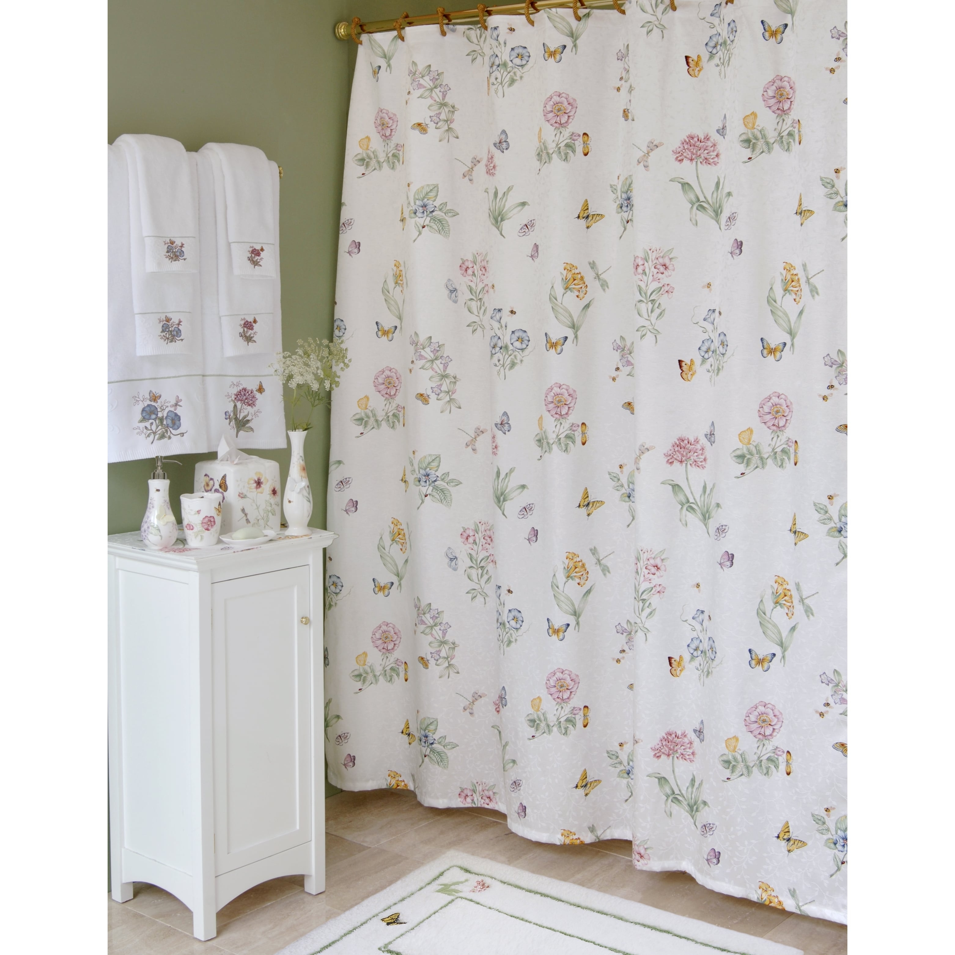 Lenox Butterfly Meadow Shower Curtain Free Shipping On Orders Within  Measurements 3124 X 3124