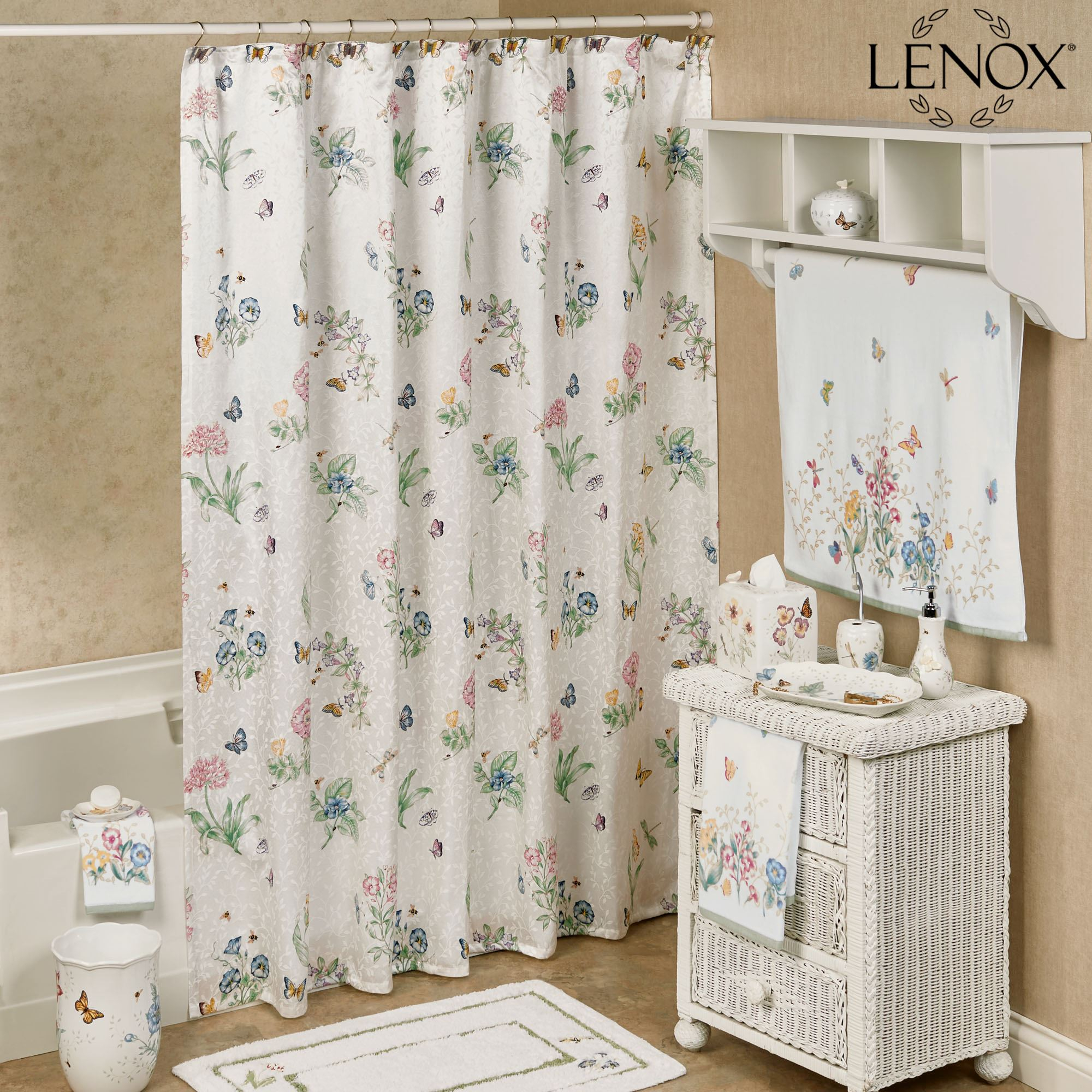 Lenox Butterfly Meadow Shower Curtain throughout measurements 2000 X 2000