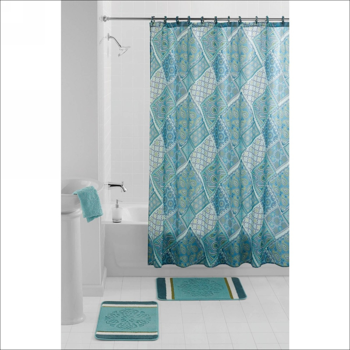 Light Blue Gingham Shower Curtain Shower Curtains Design with size 1202 X 1202